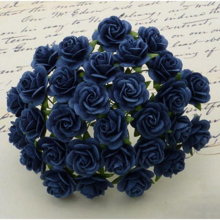 Розы темно-синие, 10 мм для скрапбукинга