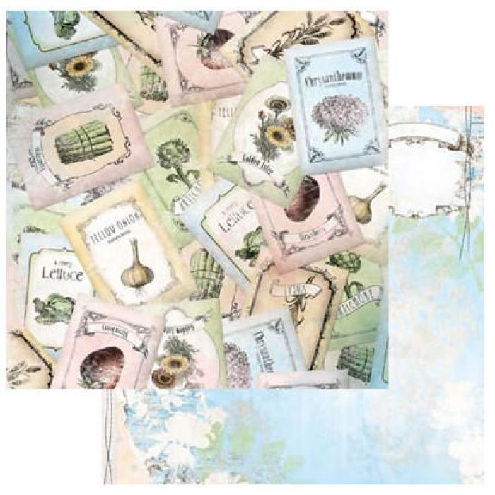 Бумага Seeds, коллекция Country Garden для скрапбукинга