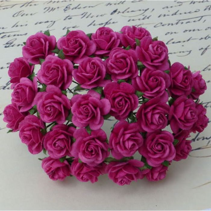 Розы малиновые, 10 мм для скрапбукинга