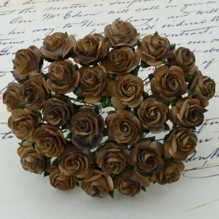 Розы оттенки коричневого, 10 мм для скрапбукинга
