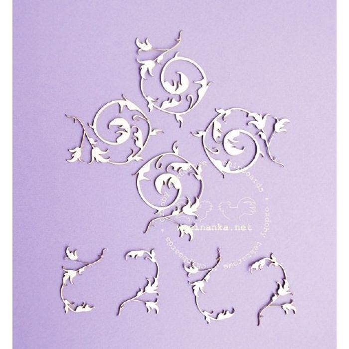 Чип-борд Цветочные орнаменты, рисунок 2 для скрапбукинга