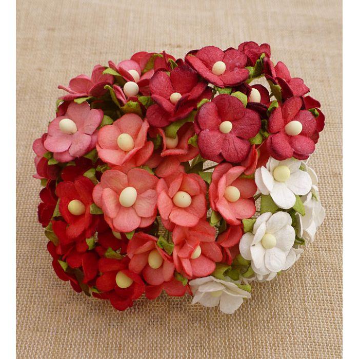 Цветы красная смесь для скрапбукинга