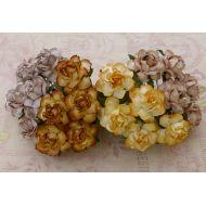 Розы садовые желто-коричневые, 25 мм