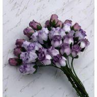 Бутоны роз фиолетовая смесь