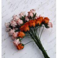 Бутоны роз оранжевая смесь