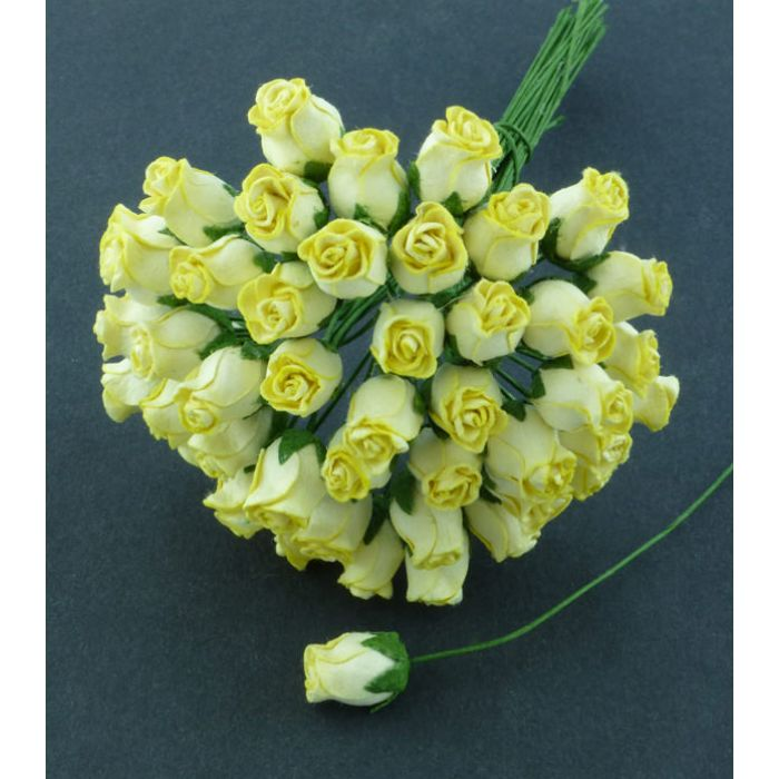 Бутоны роз желтые для скрапбукинга