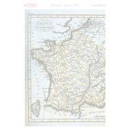 Калька старинная карта Франции