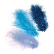 Перья марабу сине-бирюзовые