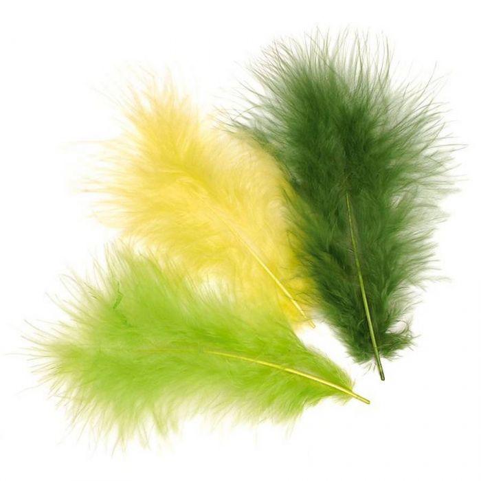 Перья марабу светло-зеленого оттенка для скрапбукинга