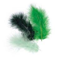 Перья марабу темно-зеленого оттенка