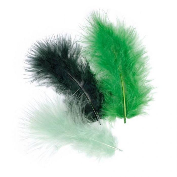 Перья марабу темно-зеленого оттенка для скрапбукинга
