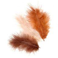 Перья марабу коричневые оттенки