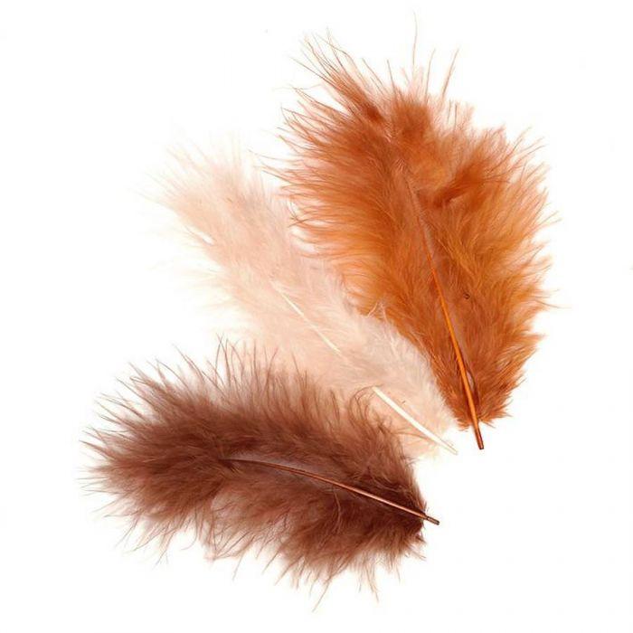 Перья марабу коричневые оттенки для скрапбукинга
