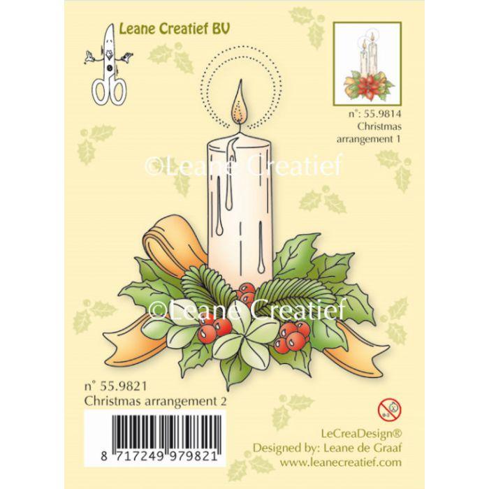Штамп силиконовый Рождественская свеча для скрапбукинга