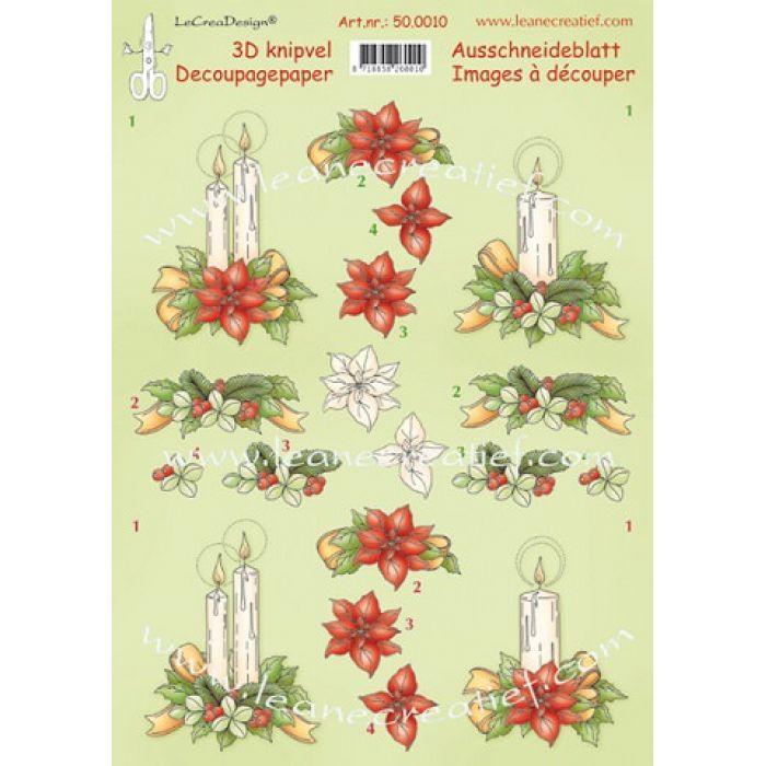 """Картинки """"Рождественские свечи"""" для скрапбукинга"""