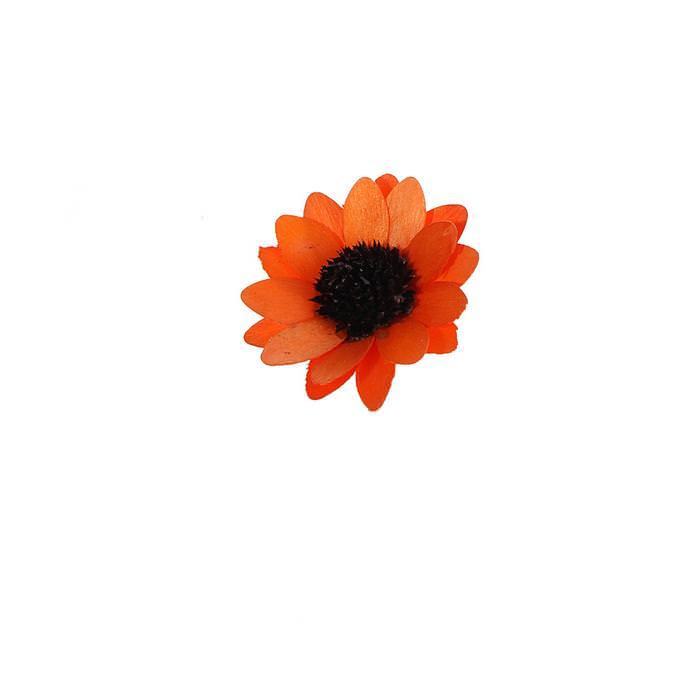 Цветок Астра оранжевый для скрапбукинга