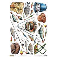 Рисовая бумага рыбалка