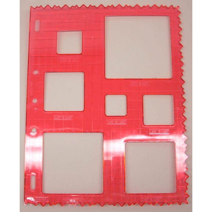 Трафарет квадраты для фигурного резака Fiskars для скрапбукинга
