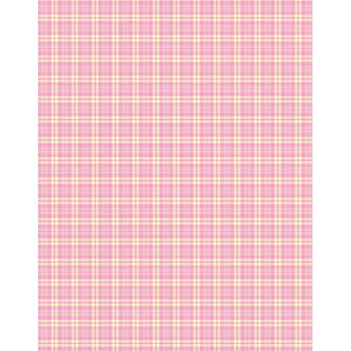 """Бумага """"Pink/Yellow Plaid"""" для скрапбукинга"""