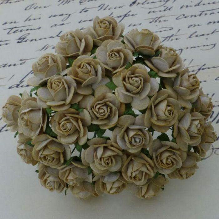 Розы кофе с молоком, 20 мм для скрапбукинга