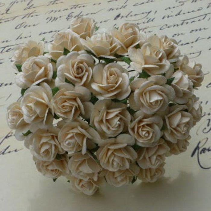 Розы цвета темной слоновой кости, 10 мм для скрапбукинга