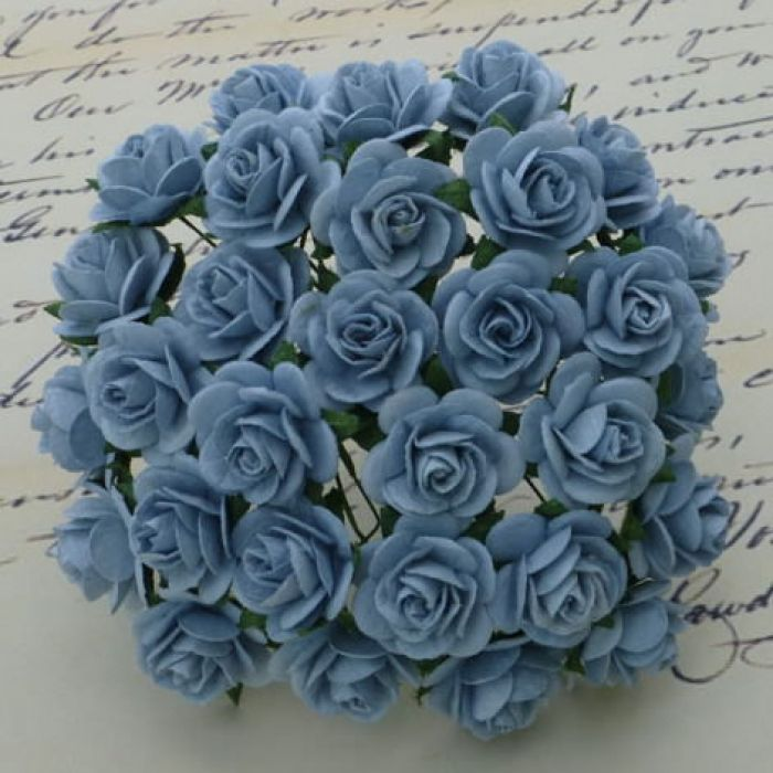 Розы голубого цвета, 20 мм для скрапбукинга