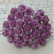 Розы темно-сиреневые, 25 мм