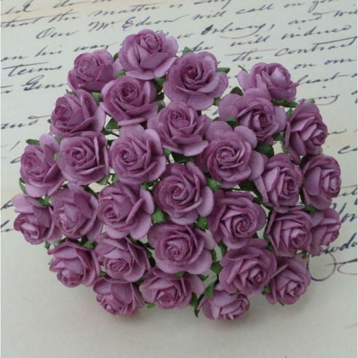 Розы темно-сиреневые, 25 мм для скрапбукинга