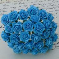 Розы светло-бирюзового цвета, 10 мм