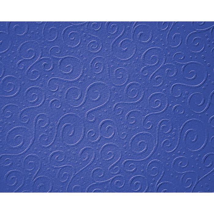 Синий картон с тиснением милан для скрапбукинга