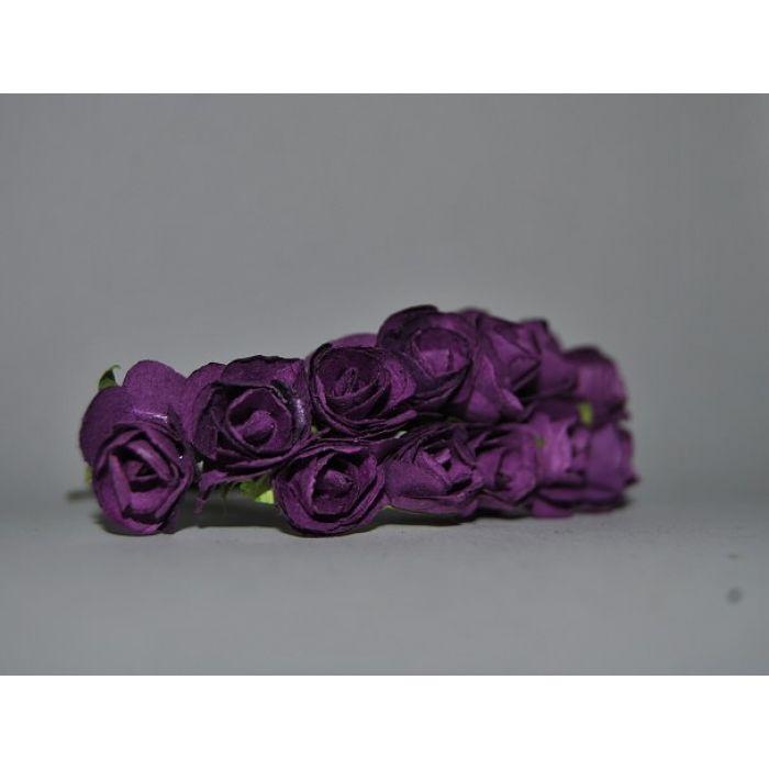 Набор розочек темно-фиолетовые для скрапбукинга