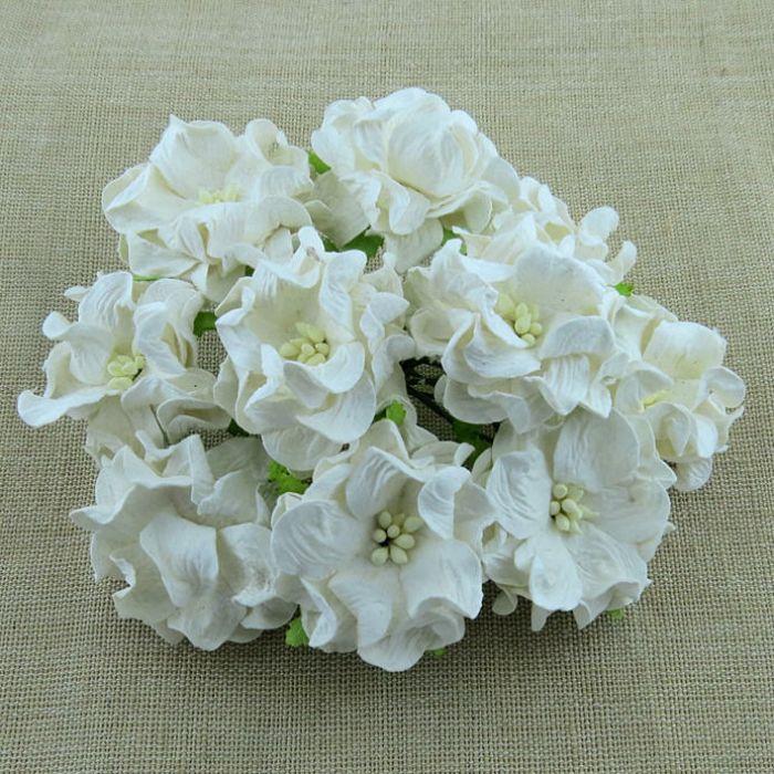 Цветы гардении белого цвета, 35 мм для скрапбукинга