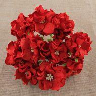 Цветы гардении красного цвета, 60 мм