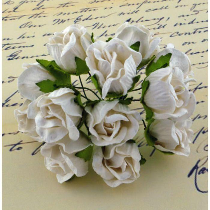 Бутоны большие дикой розы белые для скрапбукинга