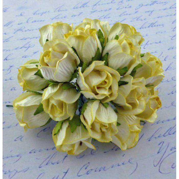 Бутоны большие дикой розы желтые для скрапбукинга