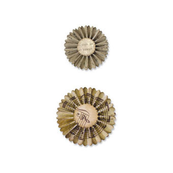 Форма для вырубки Мини-розочка Sizzlits Decorative Strip Die (2 размера) 657177 для скрапбукинга