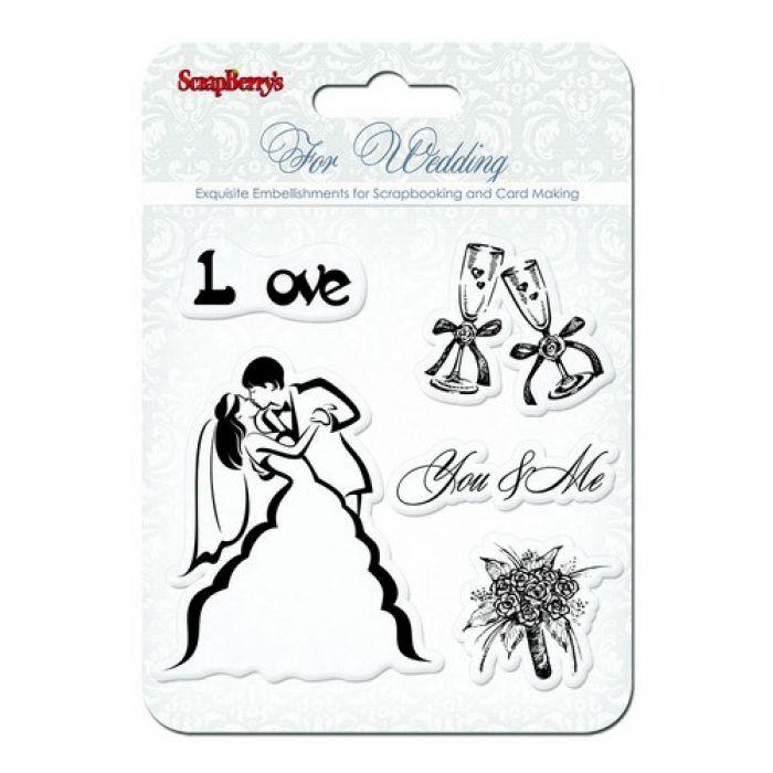 Набор штампов Ты и Я2, коллекция Свадебная для скрапбукинга