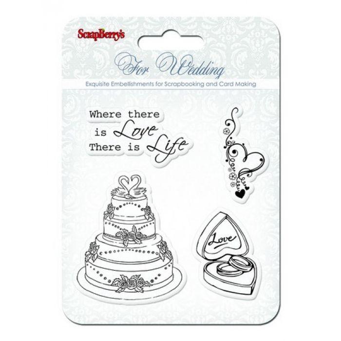 Набор штампов Свадьба2, коллекция Свадебная для скрапбукинга