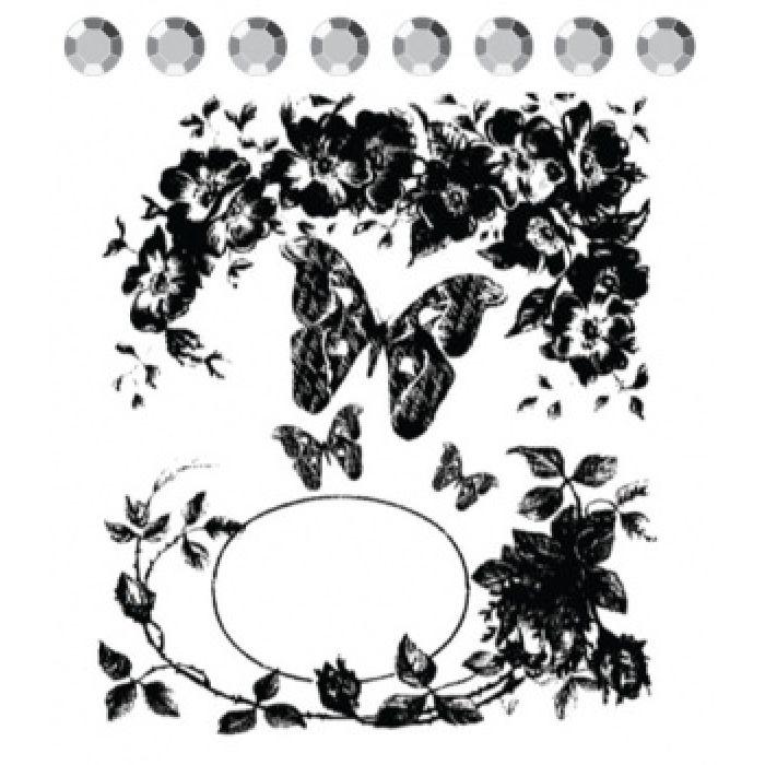 Штамп силиконовый Butterfly vine для скрапбукинга