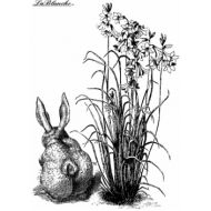 Штамп полимерный Bunny with flowers