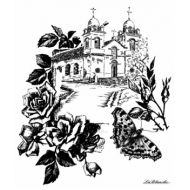 Штамп полимерный Church with roses