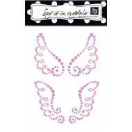 Аппликация самоклеящаяся коллекция Wings, цвет розовый