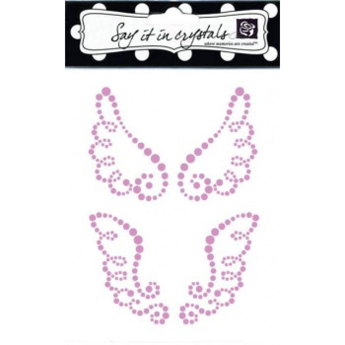 Аппликация самоклеящаяся коллекция Wings, цвет розовый для скрапбукинга