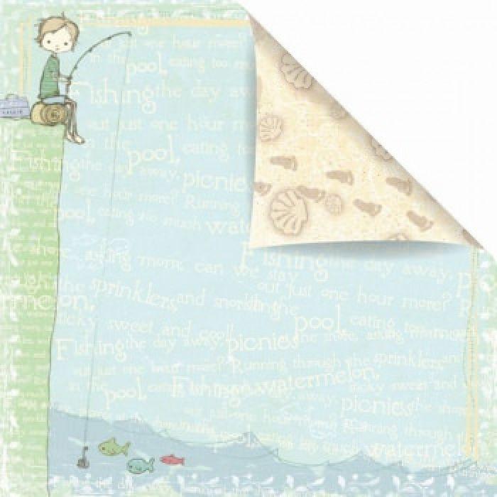 Бумага Lazy Days, коллекция Jack and Jill для скрапбукинга