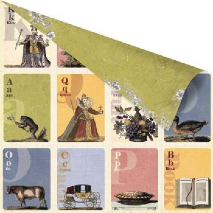 Бумага COURIER, коллекция LONDONERRY для скрапбукинга