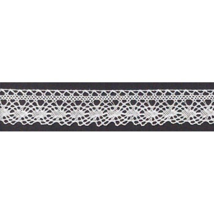 Кружево хлопчатобумажное белое, 20 мм для скрапбукинга