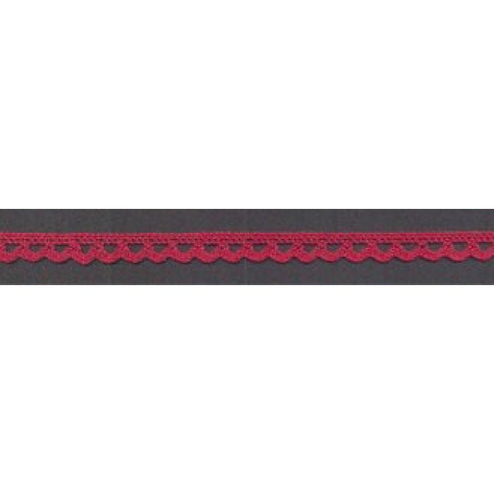 Кружево хлопчатобумажное свекольное, 7 мм для скрапбукинга