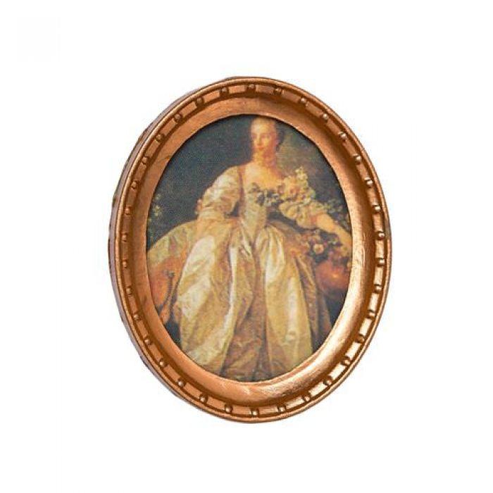 Картина в круглой раме ПОРТРЕТ для скрапбукинга