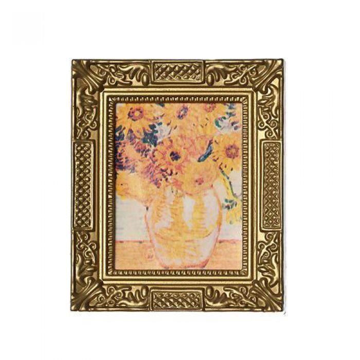 Картина в квадратной раме ПОДСОЛНУХИ для скрапбукинга