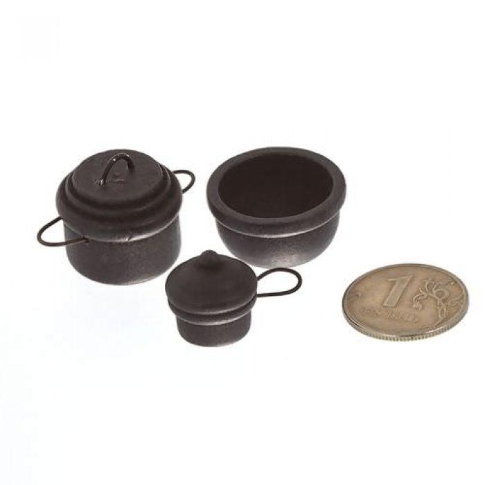 Набор чугунной посуды 3 предмета для скрапбукинга